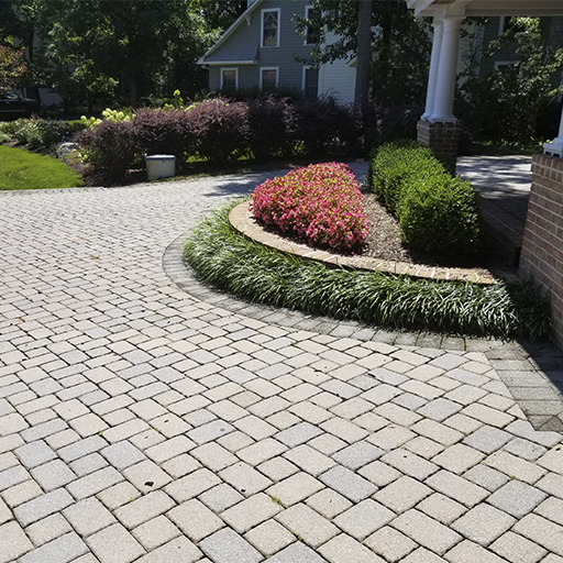 paver driveway cleaned