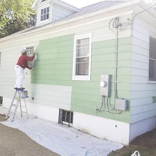 exterior aluminum siding painting