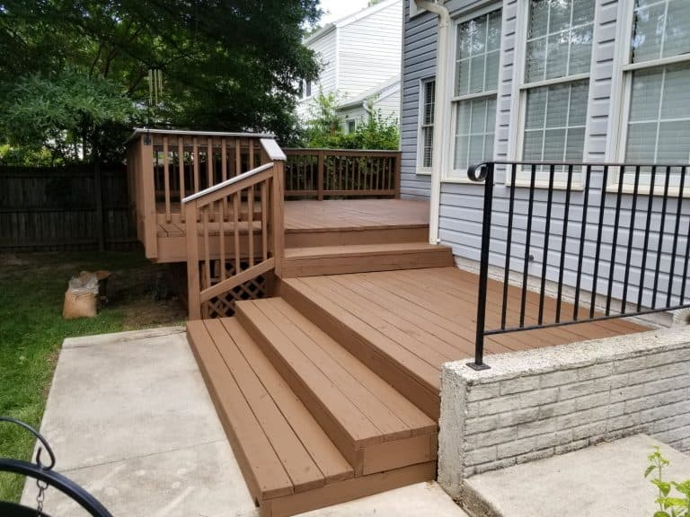 Wood staining of a deck in Glen Burnie